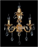 arm wall sconce - 100 Guarantee Lights Crystal Wall Light Silver Wall Sconces Lamp Golden Wall Brackets Light Arms Guarentee