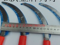 band saw blade - Sickle small saw stainless steel sickle weeding mower blade bluegrass band cutter cement bags
