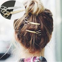 Wholesale Popular Women Lady Girls Scissors Shape Barrette Hair Clip Hairpin Hair Accessories Decorations