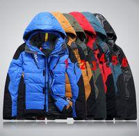 Wholesale New RLX patchwork slim coat fashion warm outwear Ski suit Down Parkas