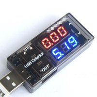 Wholesale USB Current Voltage Charging Detector Mobile Power Current and Voltmeter Ammeter Voltage USB Charger Tester Double Row Shows