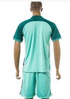 best shirt free shipping - Best Thailand Quality Euro Cup Por tugal FIGO Away Green Soccer Jerseys with Shorts Euro Cup Away Green Football Shirts