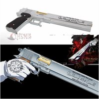 Wholesale Athemis Hellsing Arucard Cosplay Prop silver or black gun weapon high quality resin cosplay accessories