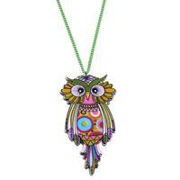 Pendant Necklaces acrylic owl - Owl Necklace Acrylic Chain Pattern Bird Pendant Original Design Fashion Jewelry For Women News Brand Accessories