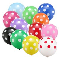 Wholesale 12 quot Latex Polka Dot Balloon for Party Wedding Birthday Decoration