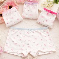 Wholesale 2016 Cute Cartoon Rabbit Print Pure Cotton Girls Panties Children Boxers Female Baby Bunny Girls Kids Underwear boxer Briefs