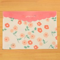 Wholesale New Korean Cute Plastic Bag File Folder Stationery Filing Production School Office Supply