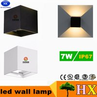 adjustable wall sconces - 7W Wall lamps IP65 cube adjustable surface mounted outdoor led lighting sconces led outdoor wall light up down led cabinet lighting