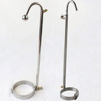 Wholesale stainless steel round flat head choose Forced Straight Hook restraint bondage toys adult sex collar fetish erotic Slave Sex toys for coupl