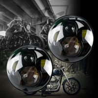 Wholesale PAIR quot inch LED Motorcycle Headlight Daymaker Black Projector DRL Bulb HID Front Driving Headlamp Head Ligh For Harley