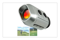 Wholesale DHL US Portable Mini Digital X Golf Scope Range Finder Distance m With Padded Case Newest