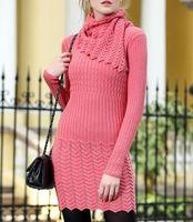 Wholesale 2016 Slash Neck Womens Sweater Black Pink Pull Femme Hiver Women s Sweaters Mujer Winter Truien Woman Knitwear Off Shulder Sweater Dress