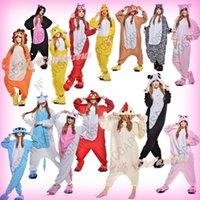 Cheap Wholesale-Hot Unisex Adult Cosplay Costume Anime Animal Bee Fox Cat Lion Minions Nightwear Onesie Sleepwear Party Dress Pajamas