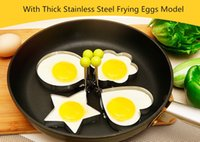 Wholesale Kitchen Kind Shaped Stainless Steel Cooking Fried Egg Pancake Ring Mold Shaper Cookie Sandwich Cooking Tools