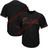 big marlin - Men s Miami Marlins Majestic Black Big Tall Pop Fashion Jersey
