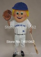 baseball halloween costumes kids - ohlees actual picture Baseball Kid Head sport Mascot costume for Halloween party activity Fancy christmas adult size