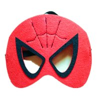 Wholesale Halloween children chemical fiber blankets eye mask iron man spiderman btman doll superman altman face a variety of colors