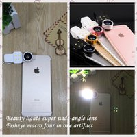 Wholesale Universal Mobile Lens With Clip Fish Eye Wide Micro Lens Colorfu For Iphone Samsung Htc Smart Phone To Take Pictures