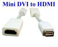 apple video cord - 50pcs Mini DVI To HDMI M F Video converter Adapter Cable Cord For Apple iMac Macbook Pro
