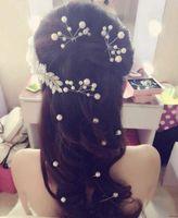 Cheap 4 pcs\lot Wedding Bridal Pearl Crystal Rhinestone HairPins Bridesmaid Clips Hair Wear U Pick Tiara Jewelry Hair Accessories 2016