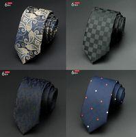 Wholesale Mens Ties New Brand Man Fashion Dot Striped Neckties Hombre cm Gravata Slim Tie Classic Business Casual Green Wedding Tie For Men
