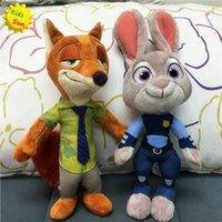 Wholesale 2016 Zootopia Movie Plush Rabbit Judy Hopps and Fox Nick Wilde Kids cm Plush Action Figure toys