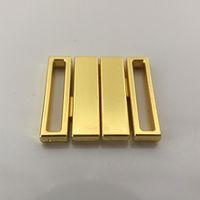 Wholesale 40 sets mm Alloy gold front closure bra clips bra accessories bikini connector