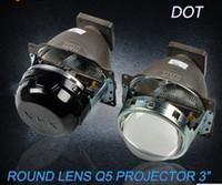 al por mayor proyector de lente de xenón-3,0 pulgadas de Q5 de coches Bi-Xenón HID lente del proyector Para los faros de coches de alta luz de cruce American Standard sin bombilla HID