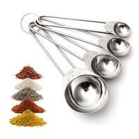 Wholesale New Arrival Modern Design Stainless Steel ml Measuring Spoon KitchenTea Coffee Scoop Set Kitchen Tool