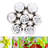 Wholesale 7Pcs set Russian Tulip Icing Piping Nozzles Cake Decoration Decor Tips Tool