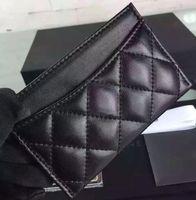 Wholesale 5A Top Quatliy Famous Brand Card Holder Caviar Leather or Lambskin Diamond Lattice Designer Purse Matching Le Boy Bag CC338