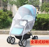 Wholesale New carrinho all cover Bed nets high quality Increase encryption umbrella baby car nets stroller organizer accessoire poussette