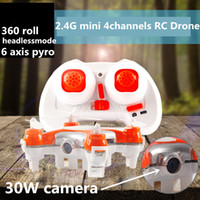 Wholesale Mini RC drone w HD camera remote control RC quadcopter axis pyro Rc helocopter toys headless mode