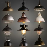 Wholesale Hot sell Indoor decorative modern pendant lamp E27 Iron lamp dining room bar counter coffee house decorate commercial lighting freeshipping