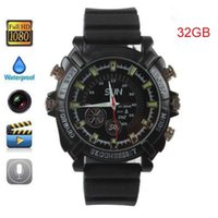 Wholesale HD P Waterproof Watch Cameras Cheap Digital Hidden Spy Cameras GB Camcorder Night Vision DVR Cameras
