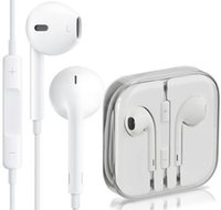 Wholesale Original Headphone iPhone6 s plus S Earphone Earbuds AAAAA Quality Headset mm Stereo Handsfree with Remote Mic Earphones with box