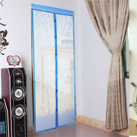automatic screen doors - mesh packaging Color Curtain Anti Mosquito Magnetic Tulle Shower Curtain Automatic Closing Door Screen Summer Style Mesh Net x CM
