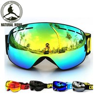 Wholesale NaturalHome Brand Ski Goggles Double UV400 Anti fog Ski Mask Glasses Skiing COPOZZ Men Women Snow Snowboard Goggles Lens