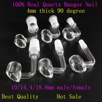 Wholesale 4mm thick Honey bucket quartz nail with degree pocket banger nail mm for Titanium Nail Glass bong water pipe new