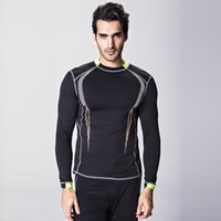 Wholesale Outdoor Climbing Men s Sports Long Sleeved T shirt Wicking Fast Drying Quick drying Breathable Running Cycling Fitness Tight Jerseys