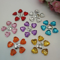 bag accessories - 2016 new multicolor heart shape acrylic buttons apparel bags shoes sewing accessories DIY notions mmx13mm B004