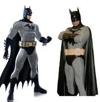 batman catsuit - batman costume adult mens halloween costumes black Bodysuit zentai cape mask carnival superhero cosplay costume custom made
