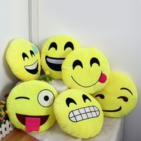 baby toys lights - 22 Styles Soft Emoji Smiley Cushions Pillows QQ Facial Emotions Pillow Yellow Round Cushion Stuffed Plush Toy Gift For Baby Kids