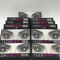 beauty cotton - HOT Huda Beauty mink collection False Eyelashes Real hair Handmade Fake Eye Lashes Professional Makeup Tip Bigeye Long False Eye Lashes