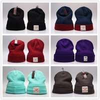 beach tags - 2016 NEW Diamond Knitting Hats Men s Winter Knitted Skull Cap Warm Slouchy Beanie Diamond Supply Co Rain or Shine Beanies With OG Tags