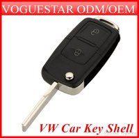 Wholesale 2 Buttons Remote Flip Folding Car Key Shell Replacement for VW Volkswagen Golf MK4 Bora Uncut Blade Keyless Car Key Case Cover ATP013