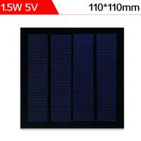El panel solar monocristalino laminado PET de la célula solar del silicio laminado PET de ELEGEEK 1.5W 5V 110 * 110 * 3m m mini para DIY y prueba solar libera el envío