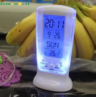 Wholesale calendar Clocks Frozen Led Digital Clock Despertador Desk Clock Bedside Alarm Clock Electronic Watch Square Gift For Kids