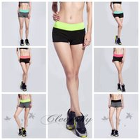 Wholesale DHL Free New Summer Woman Running Shorts Breathable Fitness Compression Yoga Shorts Elastic Female Training Gym Beach Sports Shorts Z145