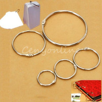 Wholesale 10pcs Metal Split Rings Ring Binder in Hinged Split Design for Home for Office Scrapbook Crafts Albums Binding Book Ring